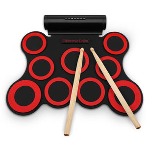 Electronic Drum - RED WITH BLACK - Toys & Hobbies