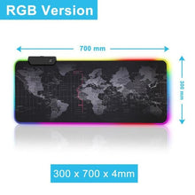 Load image into Gallery viewer, Gaming Mouse Pad with LED - RGB Backlight 30 x 70 - Mouse Pad