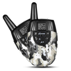 Handheld Walkie Talkies - GRAY WHITE CAMOUFLAGE / US PLUG - Toy Walkie Talkies