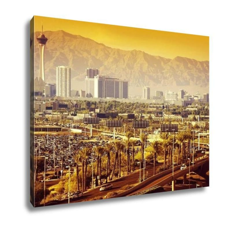 Las Vegas Nevada Cityscape Canvas - Gallery Wrapped Canvas
