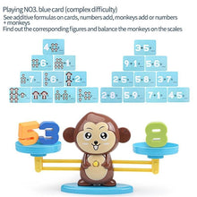 Load image into Gallery viewer, Math Match Board Game with Monkey - Kids Section