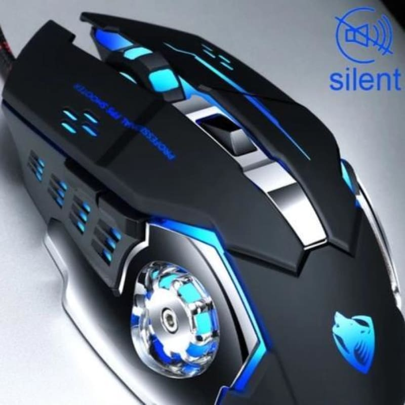 Pro Gamer Silent Mouse - Black - Mice