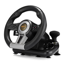 Load image into Gallery viewer, Racing Game Steering Wheel with Pedal - BLACK - Game Controllers