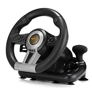 Racing Game Steering Wheel with Pedal - BLACK - Game Controllers