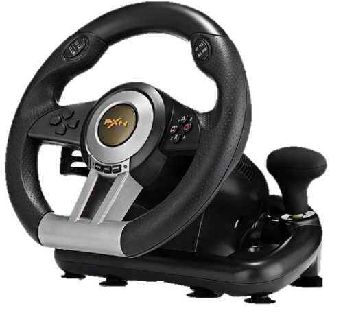Racing Game Steering Wheel with Pedal - Game Controllers