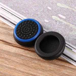 Silicone Analog Thumb Stick Grip - Black and blue - Controllers