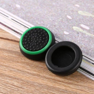 Silicone Analog Thumb Stick Grip - Black and green - Controllers