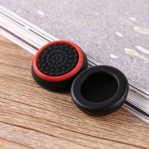Silicone Analog Thumb Stick Grip - Black and red - Controllers