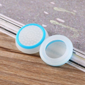 Silicone Analog Thumb Stick Grip - White and blue - Controllers