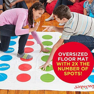 Twister Ultimate: Bigger Mat More Colored Spots Family Party Game - Standard - Board Games