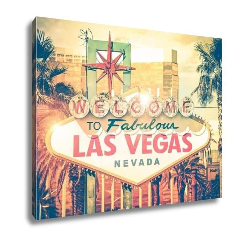 Vintage Las Vegas Canvas - Gallery Wrapped Canvas