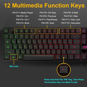 Waterproof Backlit Gaming Keyboard - Keyboards