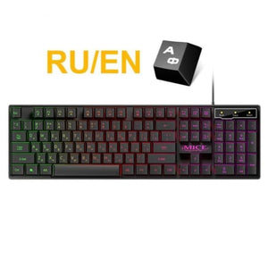 Waterproof Backlit Gaming Keyboard - Russian - Keyboards