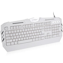 Load image into Gallery viewer, White USB Wired Gaming Keyboard