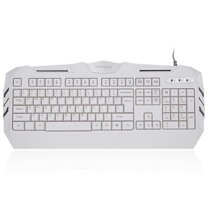 White USB Wired Gaming Keyboard - WHITE