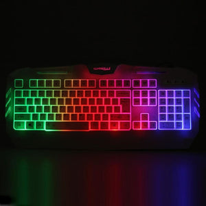 White USB Wired Gaming Keyboard