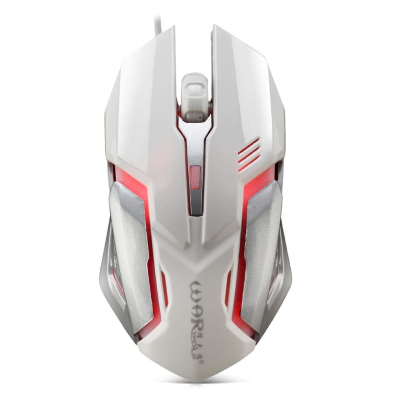 Wired Gaming Mouse with LED Light - WHITE - Mouse