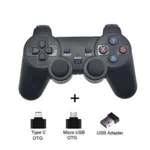 Wireless Controller with Cellphone Clip - Black - Controllers