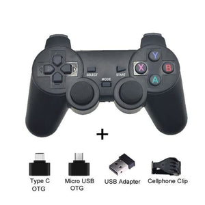 Wireless Controller with Cellphone Clip - Black with clip - Controllers