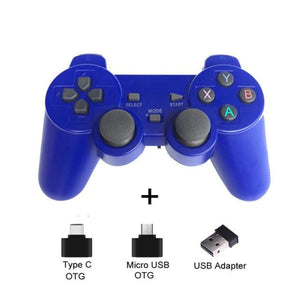 Wireless Controller with Cellphone Clip - Blue - Controllers