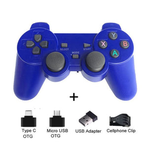 Wireless Controller with Cellphone Clip - Blue with clip - Controllers