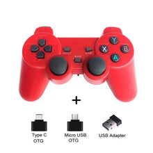 Load image into Gallery viewer, Wireless Controller with Cellphone Clip - Red - Controllers