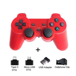 Wireless Controller with Cellphone Clip - Red with clip - Controllers