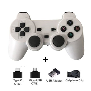 Wireless Controller with Cellphone Clip - White with clip - Controllers