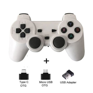 Wireless Controller with Cellphone Clip - White - Controllers