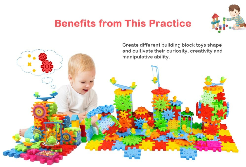 Changeable Model ABS Educational Dynamoelectric Building Block for Kids