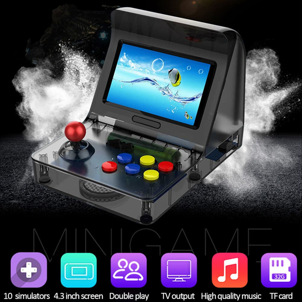 Portable Retro Mini Handheld Game Console 4.3 inch 64bit 3000 Video Games