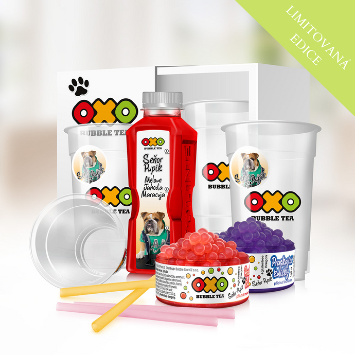 INFLUENCERSKÝ OXO HOME BUBBLE TEA KIT - SEŇOR PUPÍK - www.oxoshop.cz