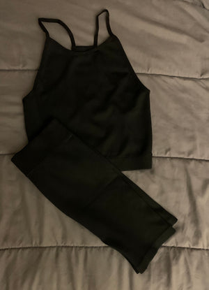 ribbed tank set