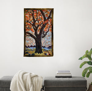 Autumn Tree Textile Art