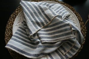 Striped Linen Dinner Napkins