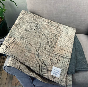 City Map Lap Blanket