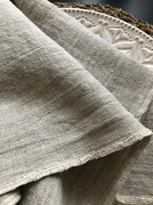 Natural Linen Dinner Napkins