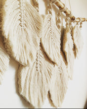 Load image into Gallery viewer, Macrame Feathers Wall Hanging