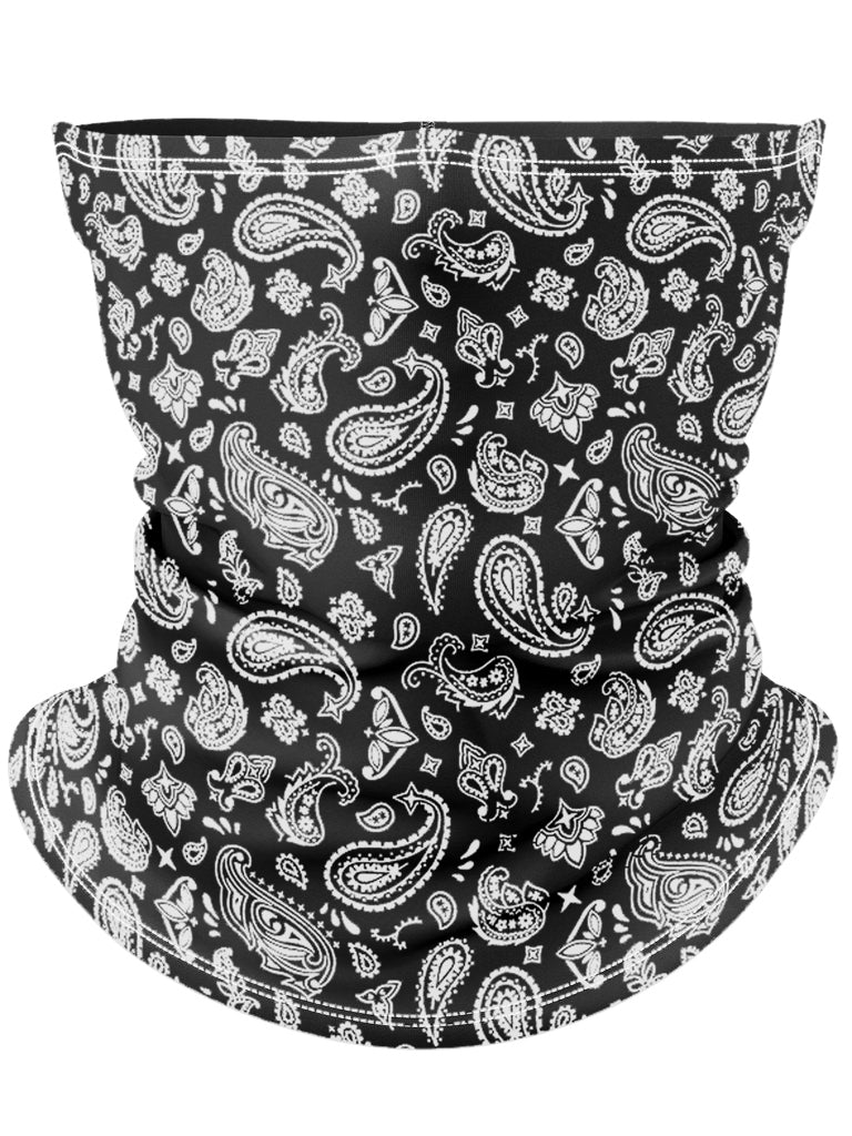 Black Bandana Gaiter Face Mask