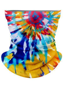 Rainbow Tie-Dye Gaiter Face Mask