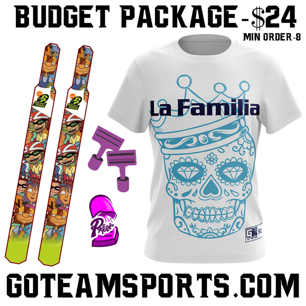 Budget Package - $24 Each Minimum of 8