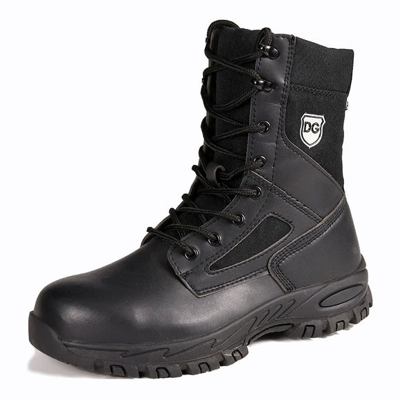 High-cut safety boots - genuine leather