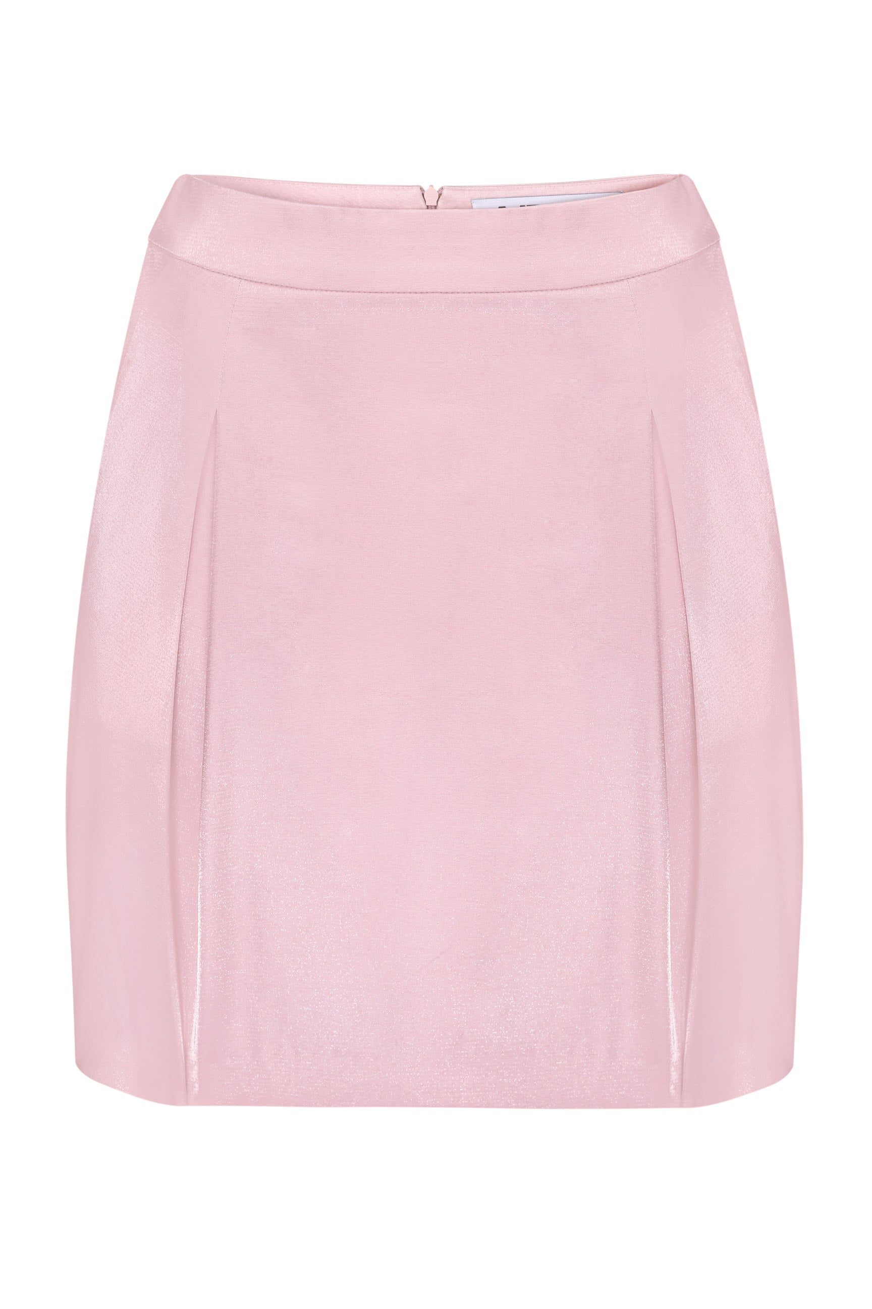 Skirt mini pink shiny viscose