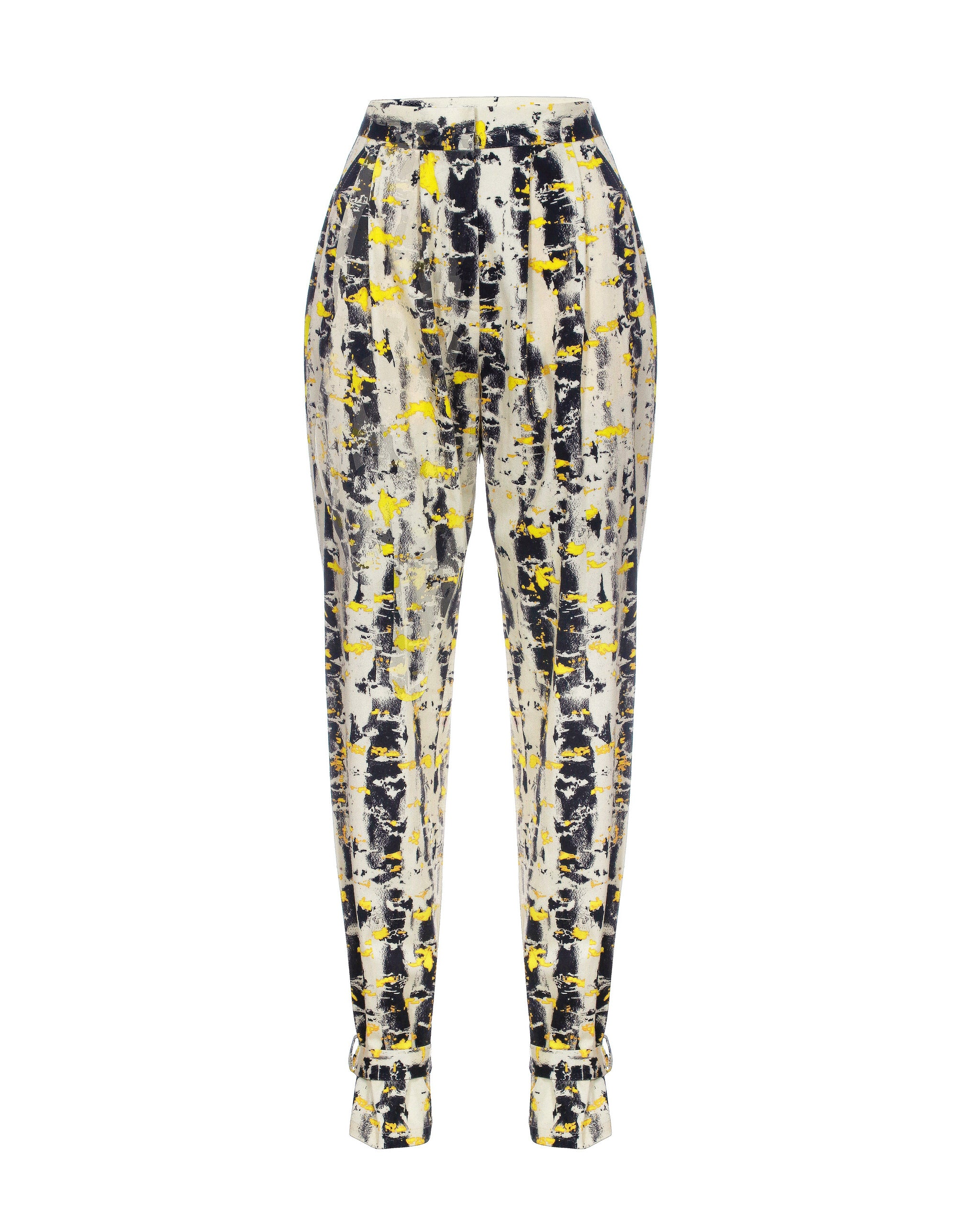 Birch bark print pants