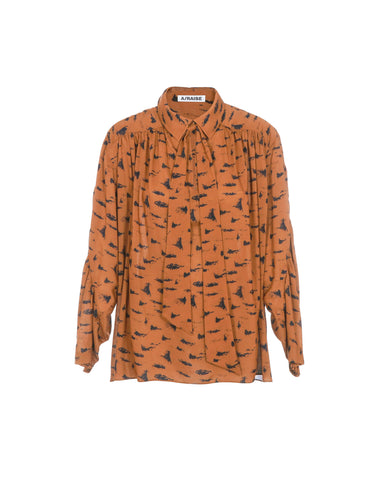 Viscose blouse print tiger