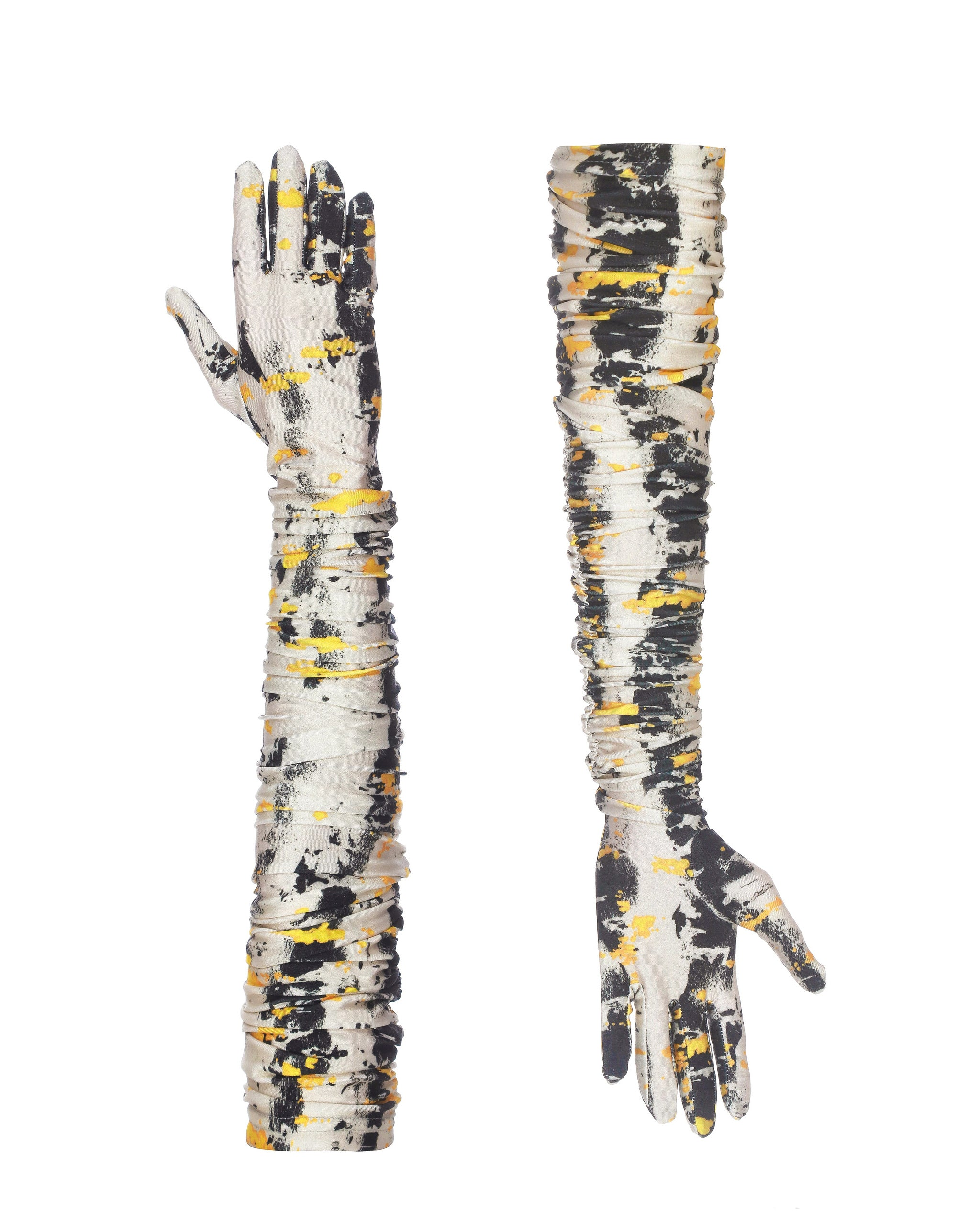 High gloves print birch