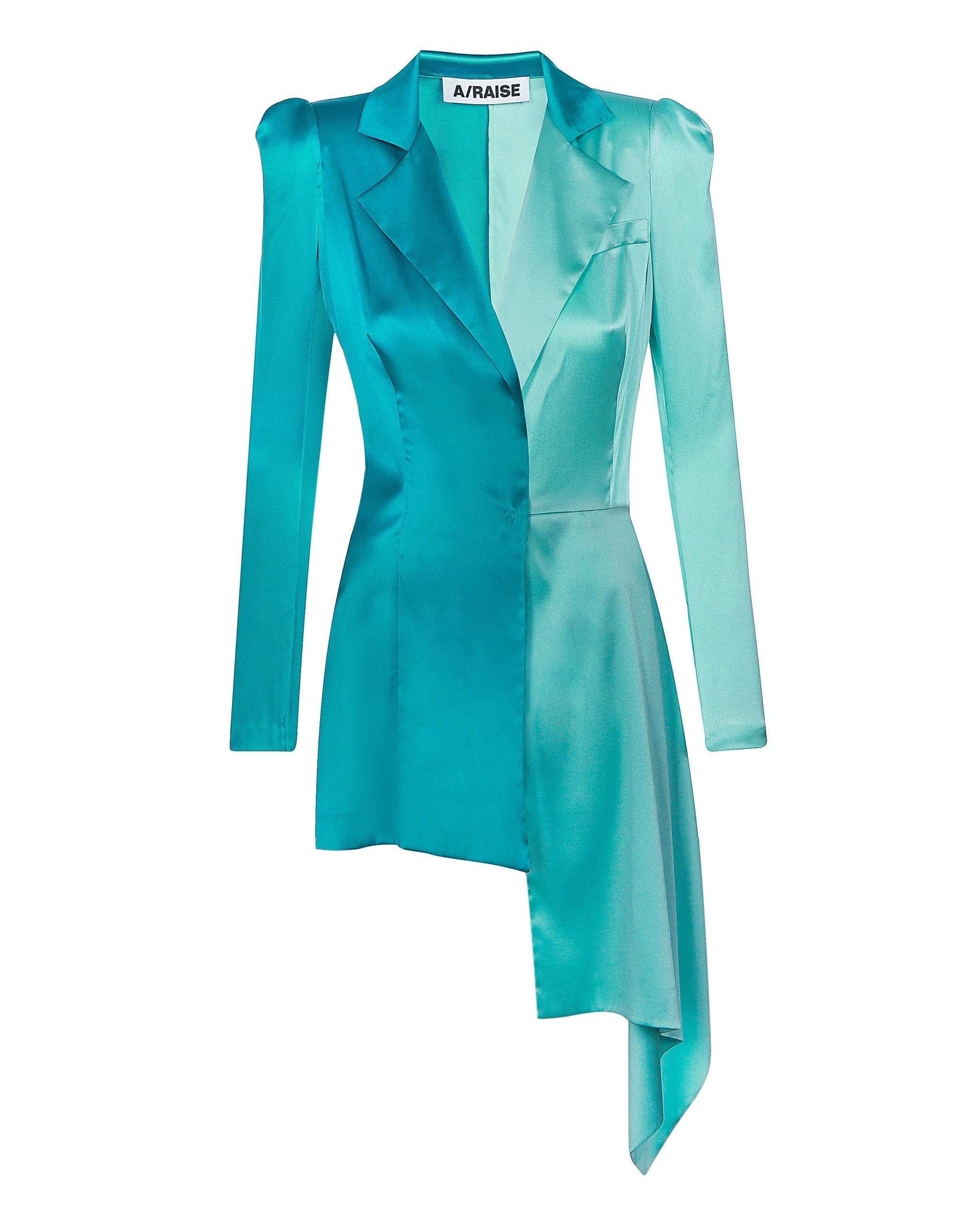 Asymmetric silk jacket