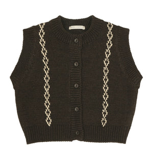 BN Marino Knit Vest at Color Me WHIMSY hip kid's fashion ethically made in south korea