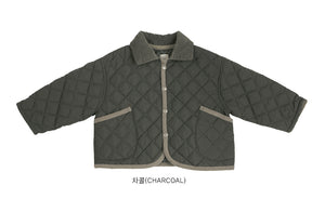 BN Diamond Quilted Jacket at Color Me WHIMSY Hip Kid's Fashion Ethically Made in South Korea