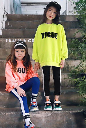 Peach and Cream Neon Sweatshirt at Color Me WHIMSY Hip Kid's Fashion Ethically Made in South Korea